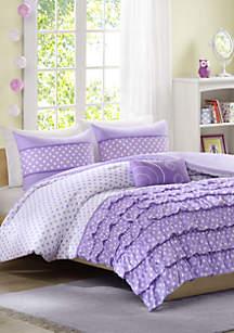 Morgan Reversible Comforter Set Purple