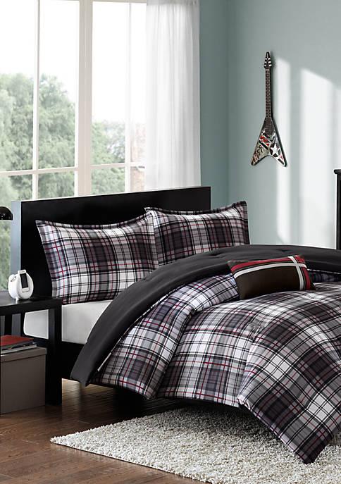 MiZone Harley Reversible Comforter Set Black