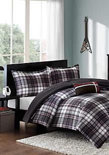 Harley Reversible Comforter Set Black