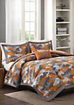 Lance Reversible Comforter Set Orange