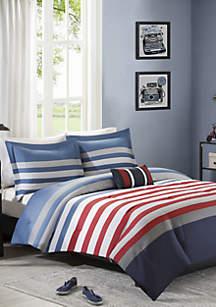Kyle Reversible Comforter Set Red