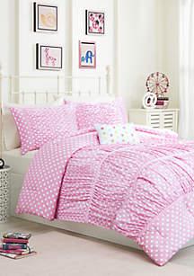 Lia Reversible Comforter Set Pink