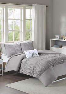 MiZone Mirimar Duvet Cover Set - Gray