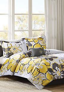 MiZone Allison Duvet Cover Set - Yellow