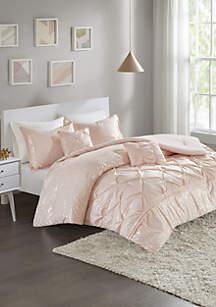 Adele Comforter Set - Blush/Gold