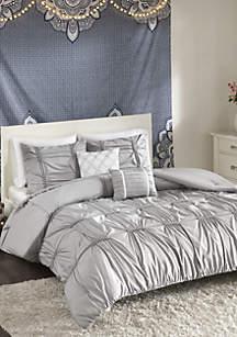 Benny Comforter Set - Gray