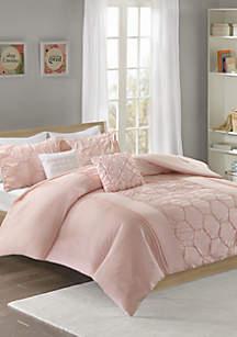 Intelligent Design Carrie Comforter Set - Blush