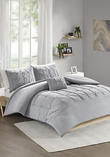 Casey Comforter Set - Gray