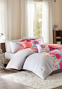 Intelligent Design Elodie Comforter Set - Coral