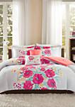 Elodie Comforter Set - Coral