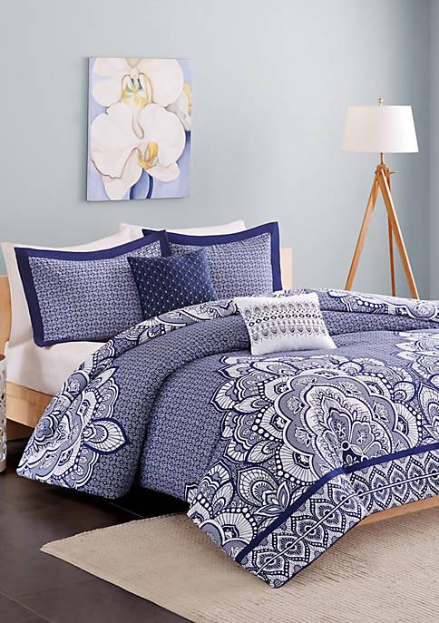 Intelligent Design Isabella Blue Comforter Set