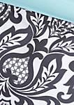 Leona Comforter Set - Black/Aqua