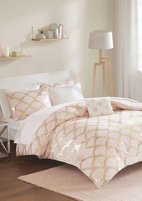Intelligent Design Lorna Complete Blush Bed Set