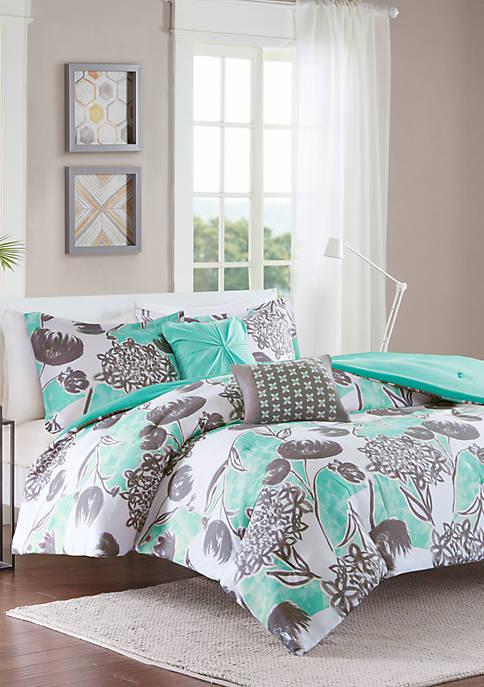 Intelligent Design Marie Aqua Comforter Set