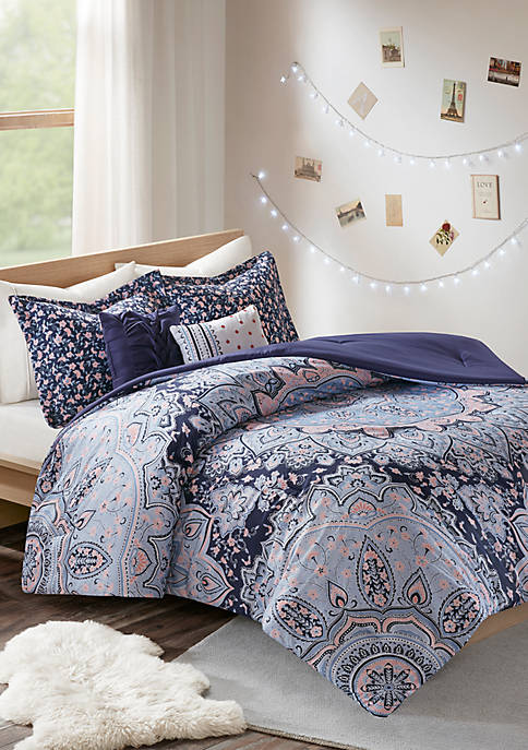 Intelligent Design Odette Blue Comforter Set
