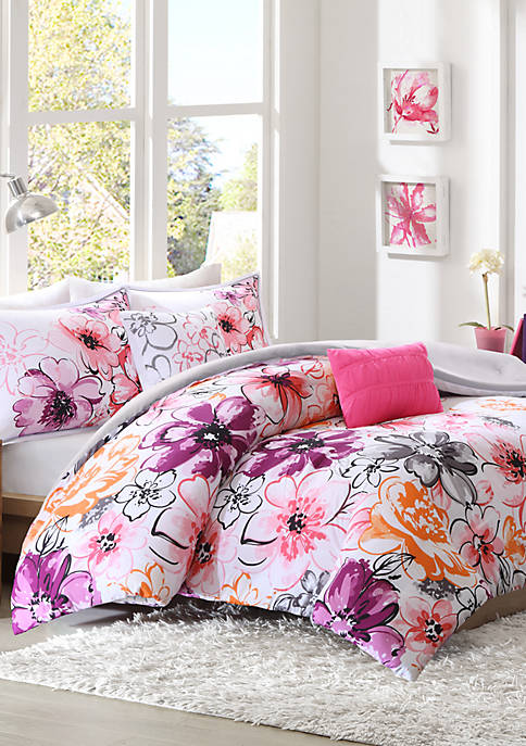 Intelligent Design Olivia Pink Comforter Set