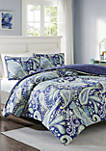 Melissa Reversible Comforter Mini Set - Navy