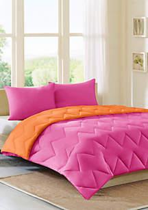 Intelligent Design Intelligent Design Trixie Comforter Mini Set - Purple/ Charcoal