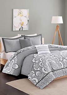 Isabella Comforter Set - Gray