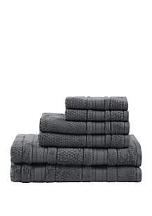 Madison Park Essentials Adrien Super Soft 6 Piece Cotton Towel Set