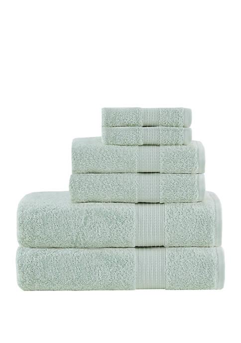 Madison Park Organic 6 Piece Cotton Towel Set