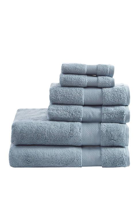 Madison Park Turkish 6 Piece Bath Towel Set