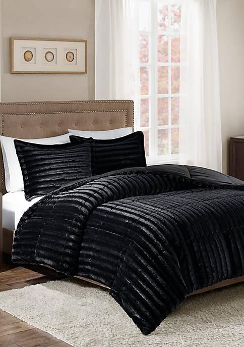 Duke Faux Fur 3 Piece Comforter Set