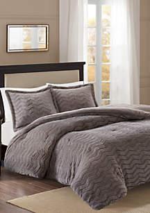 Madison Park Sloan Plush Down Alternative Comforter Mini Set