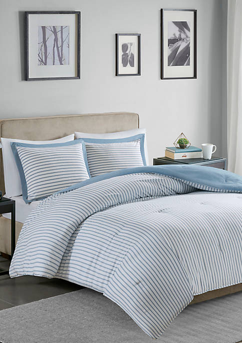 Madison Park Hayden Reversible Stripe Down Alternative Comforter
