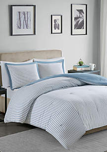 Madison Park Hayden Reversible Stripe Down Alternative Comforter Mini Set