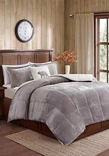 Woolrich Alton Plush to Sherpa Down Alternative Comforter Set