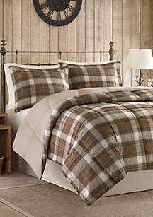 Woolrich Lumberjack Classic Quilting Soft and Cozy Microfiber Solid Reverse Down Alternative Comforter Set