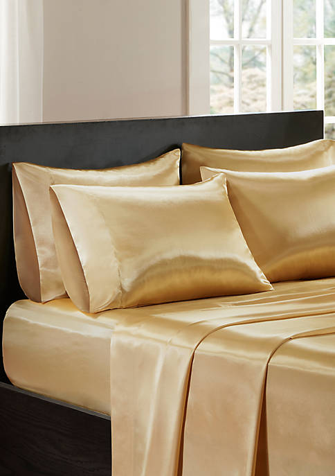 Madison Park Essentials Satin Wrinkle-Free Luxurious 6 Piece