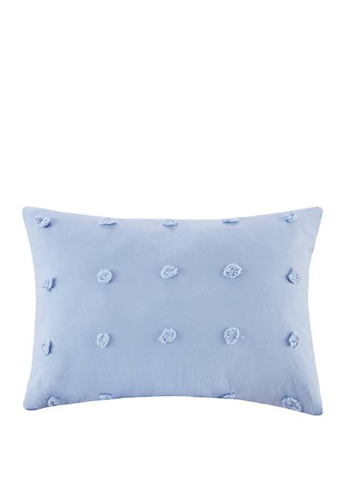 Brooklyn Cotton Jacquard Pom Pom Square Pillow