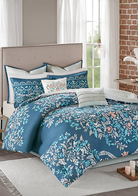 Madison Park Eden 8 Piece Cotton Printed Reversible