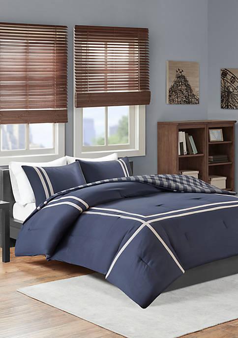 Intelligent Design Oxford Reversible Comforter Set