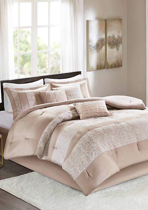Madison Park Ava 7 Piece Chenille Jacquard Comforter