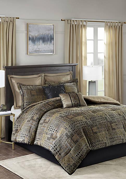Madison Park Danville 8 Piece Chenille Jacquard Comforter