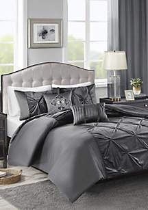 Madison Park Mia Faux Velvet 5 Piece Comforter Set