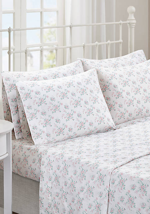 Madison Park Floral Comfort Wash Cotton Sheet Set