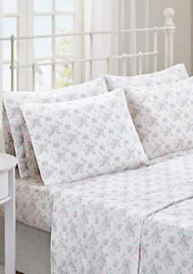 Madison Park Floral Comfort Wash Cotton Sheet Set