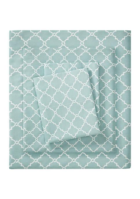 Madison Park Fretwork Printed 100% Cotton Sheet Set