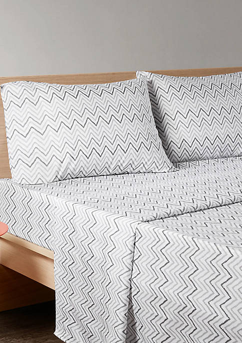 Intelligent Design Multicolor Chevron Sheet Set