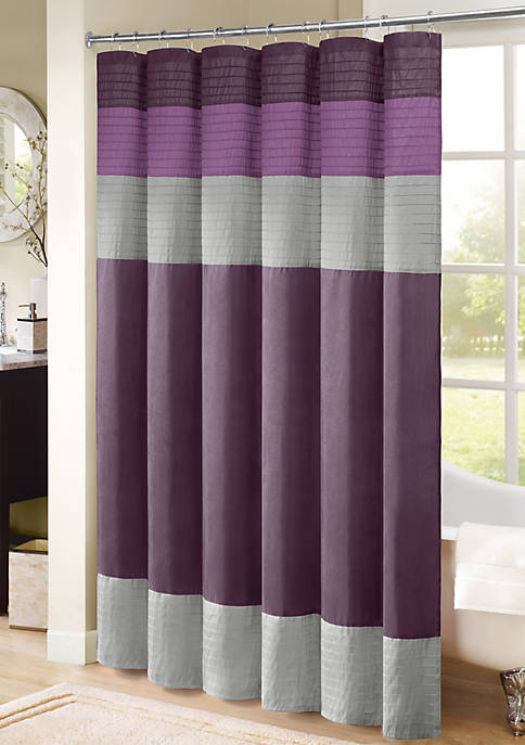 HipStyle Carter Pieced Faux Silk Shower Curtain