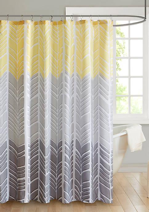 Intelligent Design Adel Microfiber Printed Shower Curtain