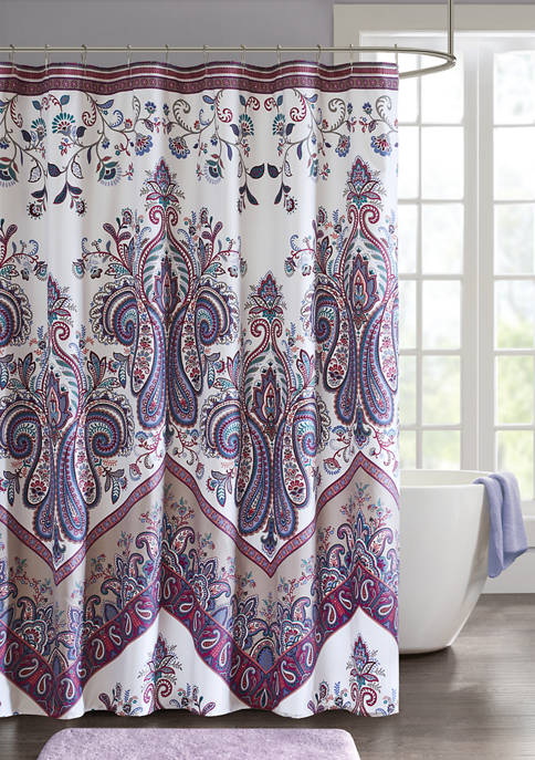 Intelligent Design Tulay Printed Shower Curtain