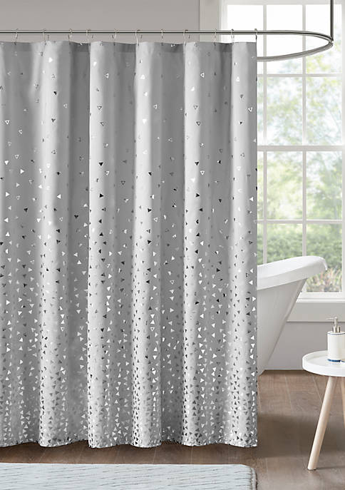 Intelligent Design Zoey Metallic Printed Shower Curtain
