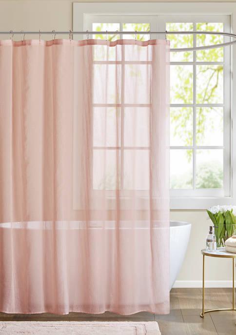 72 in x 72 in Anna Sheer Shower Curtain