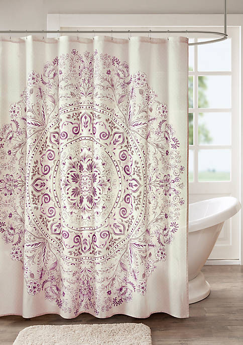 Madison Park Elise Cotton Printed Shower Curtain
