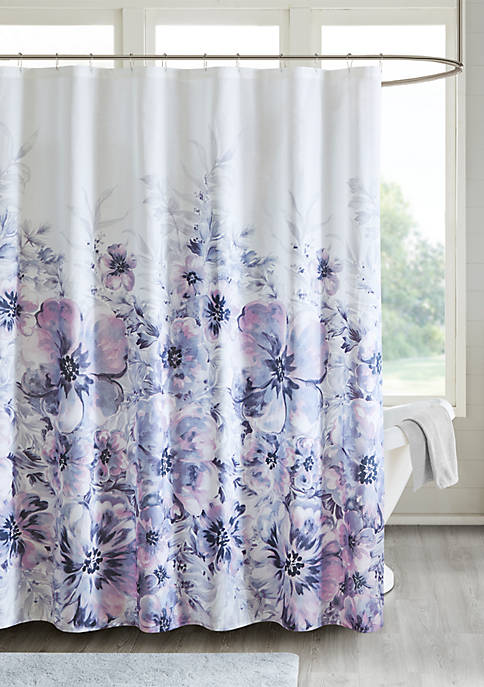 Madison Park Enza Floral Cotton Printed Shower Curtain